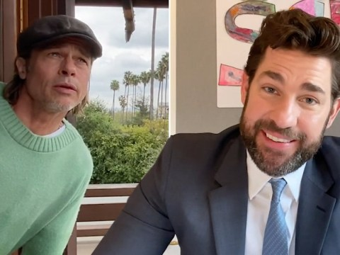 Brad Pitt is coolest weatherman going as he tries forecasting for John Krasinski's YouTube series