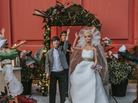 Wedding photographer creates hilarious shoot with daughter's Barbies after all her bookings were cancelled