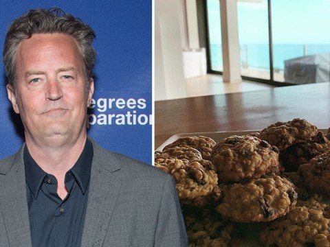Friends star Matthew Perry gets ready for 'serious nude eating' as he bakes cookies in quarantine without wearing pants