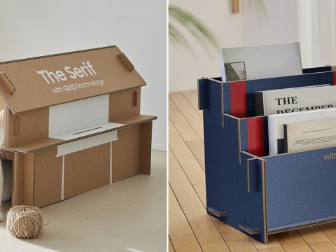 Samsung redesigns TV packaging so it can be turned into a house for your cat
