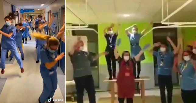 Killjoys\' anger at nurses dancing for TikTok to boost morale