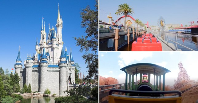 screenshots of virtual Disney rides