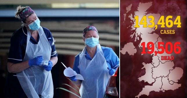 The UK coronavirus death toll is approaching 20,000