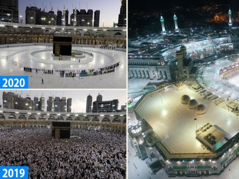 Remarkable pictures show Mecca deserted during Ramadan