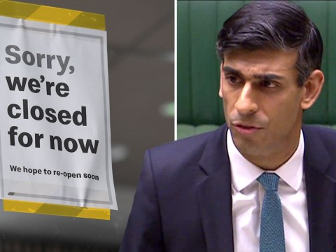 Rishi Sunak says one in four businesses have stopped trading