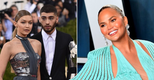 Chrissy Teigen, Gigi Hadid and Zayn Malik