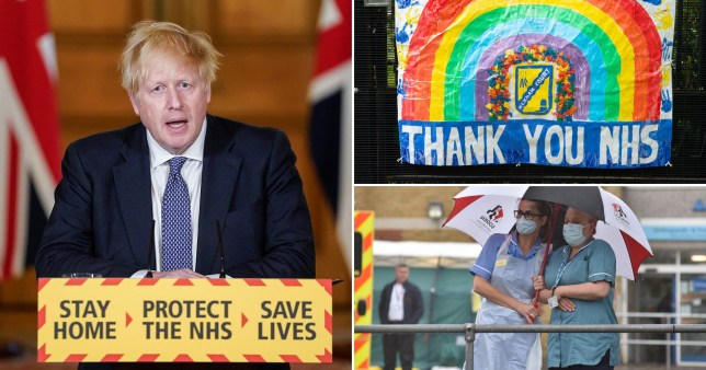 Boris Johnson thanked the NHS as he returned to give a press briefing