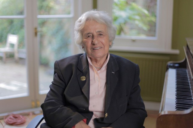 Programme Name: Belsen: Our Story - TX: 28/01/2020 - Episode: Belsen: Our Story (No. n/a) - Picture Shows: Anita Lasker-Wallfisch - (C) Atlantic Productions - Photographer: David Langham