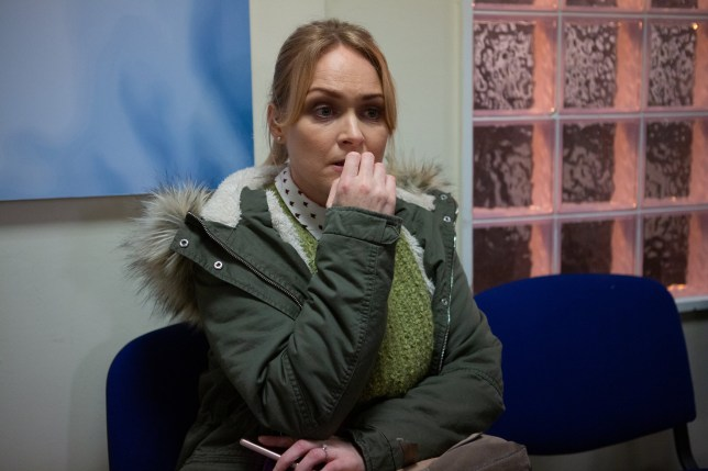 February 2020 DEVASTATING DIAGNOSIS In tonight?s (17/2/20) Emmerdale, veterinarian Vanessa Woodfield played by actress Michelle Hardwick was revealed to have bowel cancer. Her worrying news was revealed to the viewers by Pierce Harris (Jonathan Wrather) who is currently holding her hostage. Sadly for Vanessa due to her current situation she is unable to share her devastating news with loved ones and at this time, hostage taker Pierce is the only other character aware of her diagnosis. This important storyline will play out on Emmerdale over the coming months as Vanessa comes to terms with her diagnosis, shares her symptoms, concerns and undergoes extensive treatment. The Emmerdale team have been working with charity Bowel Cancer UK over this storyline. Picture contact - David.crook@itv.com Photographer - Mark Bruce This photograph is (C) ITV Plc and can only be reproduced for editorial purposes directly in connection with the programme or event mentioned above, or ITV plc. Once made available by ITV plc Picture Desk, this photograph can be reproduced once only up until the transmission [TX] date and no reproduction fee will be charged. Any subsequent usage may incur a fee. This photograph must not be manipulated [excluding basic cropping] in a manner which alters the visual appearance of the person photographed deemed detrimental or inappropriate by ITV plc Picture Desk. This photograph must not be syndicated to any other company, publication or website, or permanently archived, without the express written permission of ITV Picture Desk. Full Terms and conditions are available on www.itv.com/presscentre/itvpictures/terms