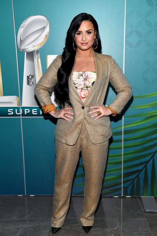 MIAMI, FLORIDA - 30 JANUARY: Andy Cohen sits with Demi Lovato on Andy SiriusXM Radio on January 30, 2020 in Miami, Florida. (Photo by Kevin Mazur / Getty Images for SiriusXM)