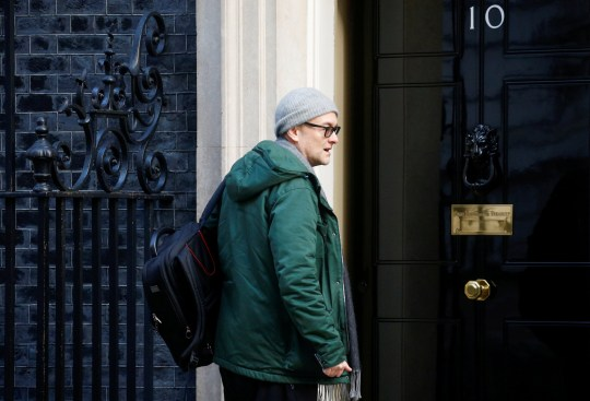 FILE PHOTO: Dominic Cummings, special adviser to British Prime Minister Boris Johnson arrives for a cabinet meeting to address the government's response to the global COVID-19 coronavirus outbreak, at Downing Street in London, Britain March 12, 2020. REUTERS/Henry Nicholls/File Photo