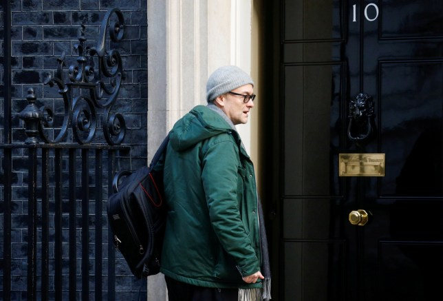 Dominic Cummings, special adviser to British Prime Minister Boris Johnson arrives for a cabinet meeting.