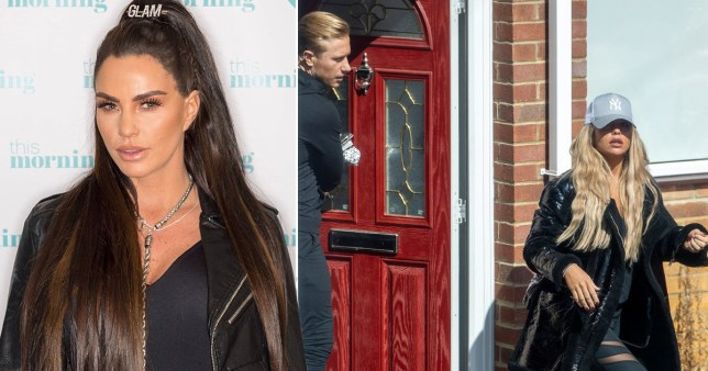 Kris Boyson and Bianca Gaiscoigne shacked up together in lockdown (Picture: Rex, Click News)