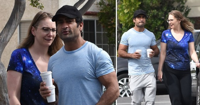 Kumail Nanjiani goes for walk with wife (Picture: Backgrid)
