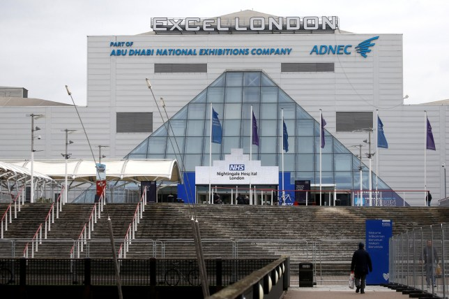 General view of the Excel Centre, London while it is being prepared to become the NHS Nightingale Hospital, as the spread of the coronavirus disease (COVID-19) continues, London, Britain, April 1, 2020. REUTERS/Henry Nicholls
