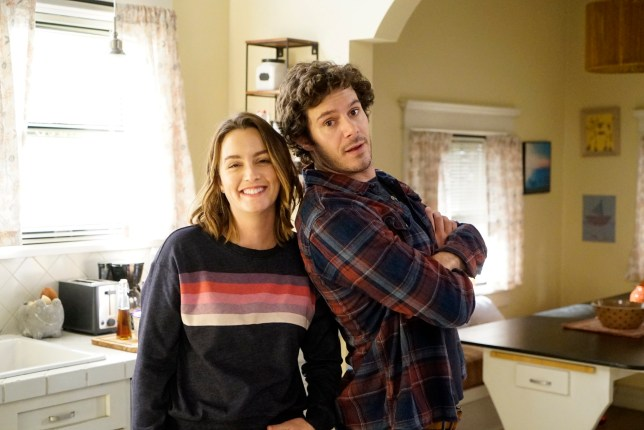 Leighton Meester and Adam Brody together on SINGLE PARENTS