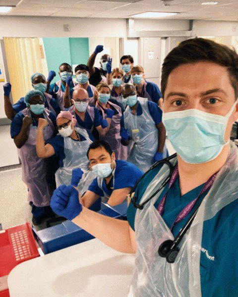 Dr Alex George and his NHS colleagues