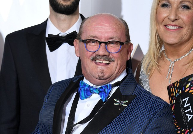 Mandatory Credit: Photo by Anthony Harvey/REX (10537889cn) Brendan O'Carroll - Comedy - Mrs Brown's Boys 25th National Television Awards, Press Room, O2, London, UK - 28 Jan 2020