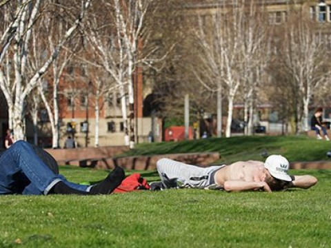 Sunbathing is against lockdown rules, government says