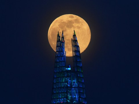 Pink supermoon pictured shining brightly across the UK