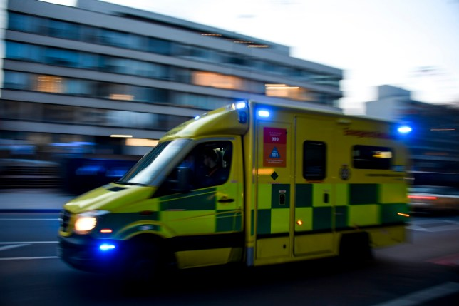 An ambulance drives past St Thomas' Hospital in central London as British Prime Minister Boris Johnson was moved to intensive care after his coronavirus symptoms worsened in London, Tuesday, April 7, 2020. Johnson was admitted to St Thomas' hospital in central London on Sunday after his coronavirus symptoms persisted for 10 days. Having been in hospital for tests and observation, his doctors advised that he be admitted to intensive care on Monday evening. The new coronavirus causes mild or moderate symptoms for most people, but for some, especially older adults and people with existing health problems, it can cause more severe illness or death.(AP Photo/Alberto Pezzali)
