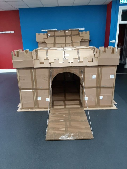 the cardboard fort front-on