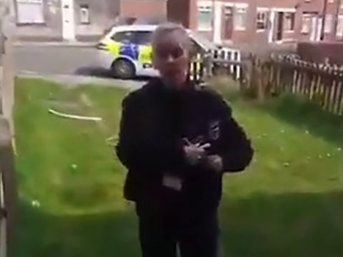 Police tell dad he can't sit in his own front garden