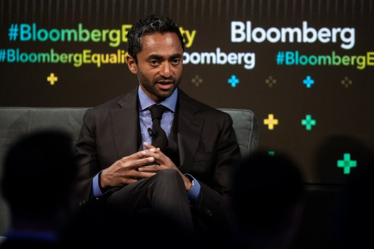 Chamath Palihapitiya, founder and chief executive officer of Social Capital LP, speaks during the Bloomberg Business of Equality conference in New York, U.S., on Tuesday, May 8, 2018. The conference brings together business, academic and political leaders as well as nonprofits and activists to discuss the future of equality, how we get there and what is at stake for the economy and society at-large. Photographer: Mark Kauzlarich/Bloomberg via Getty Images