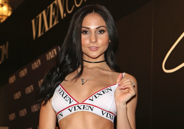 Adult film actress Ariana Marie appears at the Vixen Angel booth during the 2017 AVN Adult Entertainment Expo at the Hard Rock Hotel & Casino