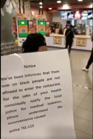 McDonald's apologises after a restaurant in China refused to serve black customers