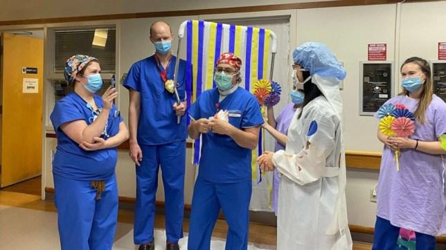Doctors have wedding ceremony at hospital amid coronavirus pandemic