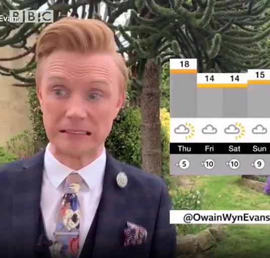 BBC weatherman absolutely smashes it as he opens news on his drums