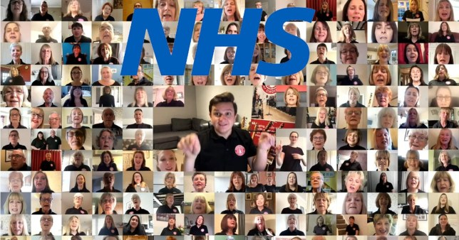 Choir made up of key workers sing Stand by Me to raise ?1,000,000 for NHS