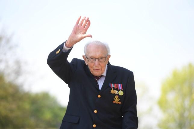 99-year-old war veteran Captain Tom Moore