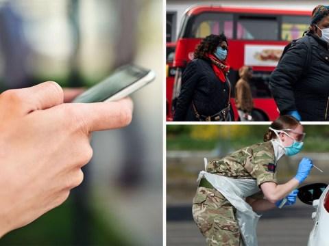 Huge drop in number of people with coronavirus symptoms on tracking app