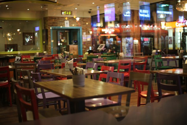 LONDON, UNITED KINGDOM - MARCH 20: An empty restaurant is seen in Soho as UK government orders bars, cafes and leisure centres etc to close as a measure against the coronavirus (COVID-19) epidemic in London, United Kingdom on March 20, 2020. Today death toll rose sharply and reached 177 in the country. (Photo by Ilyas Tayfun Salci/Anadolu Agency via Getty Images)