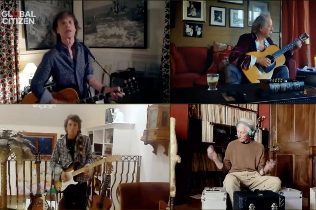 The Rolling Stones during the One World: Together At Home