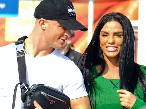 Katie Price holds hands with Dreamboys' Al Warrell on grocery shop date