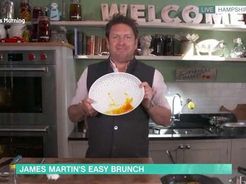 This Morning viewers fuming at James Martin as chef bins entire plate of food in live segment: 'Some people are starving'