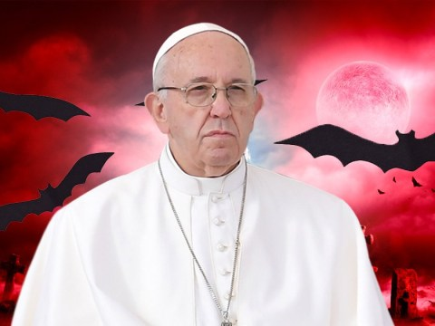 Pope says sinners are like 'human bats'
