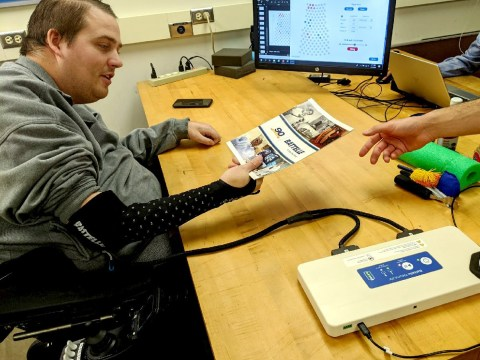 Paralysed man has sense of touch restored through brain-computer interface
