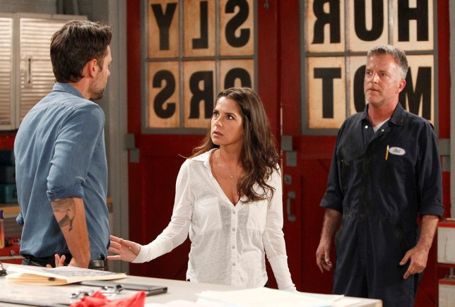 Patrick (Jason Thompson) visits the shop with Sam (Kelly Monaco) to get Mechanic Bill to offer up confidential client information