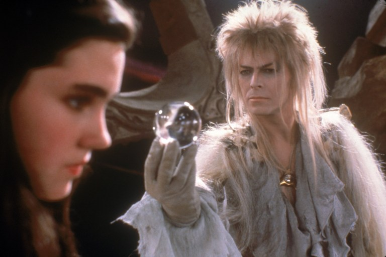 Jennifer Connelly (Sarah) , David Bowie (Jareth the Goblin King)