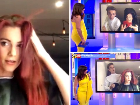 Strictly Come Dancing's Joe Sugg gives girlfriend Dianne Buswell 'lopsided' haircut on The Big Night In