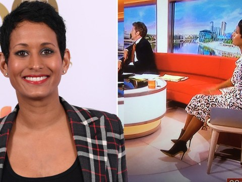 Naga Munchetty receives support  after BBC viewer criticises her for wearing 'high heels'