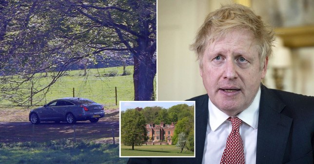 PMs official car leaves Chequers