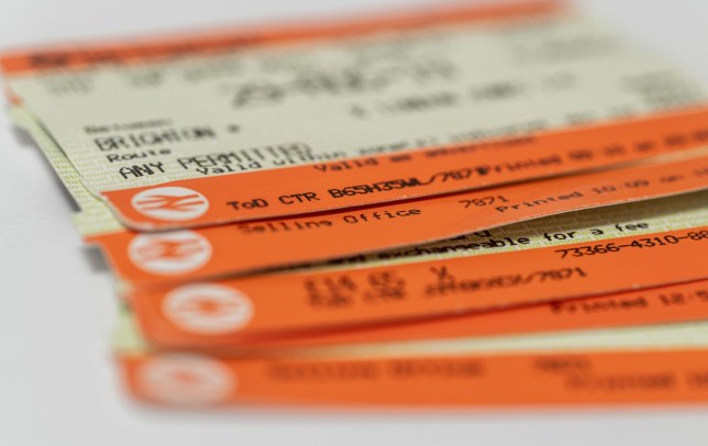 Mandatory Credit: Photo by Jon Santa Cruz/REX (10628359c) Rail companies are refunding passengers unable to use tickets, even non-refundable singles due to the Coronavirus lockdown. Detail of train tckets.UK Rail companies are refunding passengers unable to use tickets, UK - 29 Apr 2020