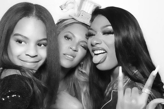 Beyonce, Megan Thee Stallion and Blue Ivy