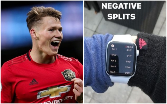 Scott McTominay is leading the way in Manchester United 5k running competition