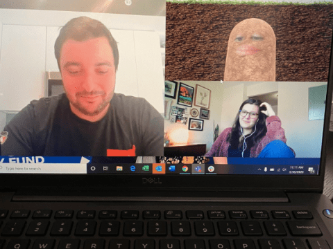 Boss accidentally turns herself into potato during coronavirus video chat with colleagues